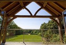 Oak Roofs and Trusses / Oakmasters, Oak roofs and trusses. Our oak roofs and trusses are built to meet your individual needs and specifications.