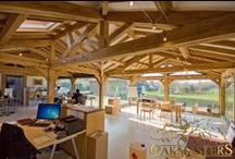 Wood ceilings and walls, wooden beams / For the love of wood.