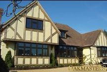Oak Cladding - Oakmasters / Bespoke timber frame effect. Add a quality & period finish to your home exterior with the effect of an oak timber frame.