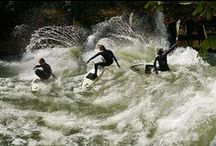 River Surfing / River surfers from around the world shredding river waves. #riversurfing #riverbreak