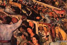 VIDEOS DE ARTE, MUSICA Y OTROS / Algunos pintores Mexicanos,  Diego Rivera, otros breve explicación de obras y famosos de diversos Países. Videos de bella música. Entre otros 10 videos de mi autoría.