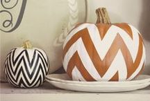 Pretty Trendy Pumpkins / We love pumpkins!! A gorgeous collection of pretty, trendy, fancy and plain amazing pumpkins for Halloween, Thanksgiving and Fall decor!