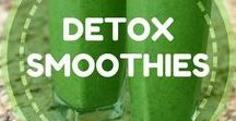 Detox Smoothies / Flush out the toxins of your body by drinking some great Detox smoothies that we have used for years! They will improve your energy levels and will help you deeply to detox your body! enjoy.