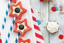 Patriotic // 4th of July, Memorial Day, Labor Day / Patriotic Party Ideas Ideas for celebrating Memorial Day with kids.    Ideas for celebrating 4th of July with kids.   Ideas for celebrating Labor Day with kids.