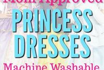 Mom Approved Princess Costumes / Many of the princess dressups found on this board are machine washable, summer friendly, Disney inspired and perfect for trips to Disney World and Disneyland.