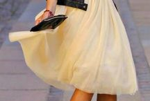 Clothes ~ knee-length skirts
