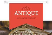 Antique Web Templates / Design Needs Time - Get Template Espresso! WebDesign inspirations at your coffee break: browse Antique website templates!