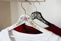 Decorated hangers / Wooden hand painted hangers