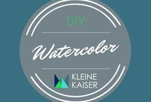 Watercolor Inspiration / inspiration and technic how to draw with watercolors