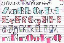 Handlettering ~ kind of letters