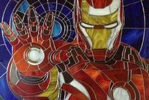Stained glass pictures / Stained glass pictures by Art Brothers (Koksharov Eugene & Dobrunova Anna) In this board you find: Stained glass art, stained glass windows, stained glass projects, stained glass patterns, stained glass crafts, stained glass ornaments and jewelry. With themes of characters of famous books, films and comics. Superhero / ironman / batman / spiderman / deadpool / Spider-man / War Machine/ Marvel / Avengers / DC comics / Neytiri / Avatar / Star Wars / Darth Vader / Boba Fett / ArtBrothers/ Glass Art