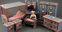 Folk furniture for doll house