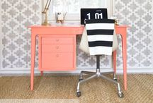 Office / Whether you call it a home office or a study, I know you want it to be stylish. Tame the paperwork and create an inspirational work zone that is functional as well as gorgeous!