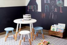 Playroom / Tame that toy clutter! Functional and stylish toy storage solutions, setting up a creative art corner, chalkboard walls, kids decor ideas.... all the inspiration you need to create a playroom your kids will love!