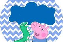 Festa Peppa Pig / Artes grátis para festa no tema peppa pig / by Tonbo Nuske