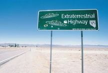 "Rachel / Situated along State Route 375, Nevada's Extraterrestrial Highway, the little town of Rachel offers visitors an experience that is truly out of this world. Adjacent to the legendary ""Area 51,"" Rachel is famous for its numerous UFO sightings."