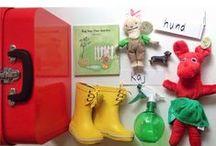 Nye varer i butikken / Vi får hele tiden nye varer, der kan indgå i arbejdet med børns sprog, leg og læring.