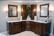 Cherry Wood Bathrooms / by Dream Kitchens-Kitchen and Bathroom remodeling