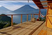 Guatemala Travel / Solo travel in Guatemala. Learning Spanish. Living with a Mayan family. Bird's nest over Lake Atitlan. Cycling in Antigua.
