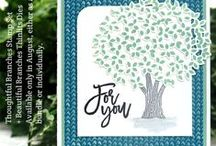 Thoughtful Branches Limited Edition Bundle / Projects created by Cheryll using the Limited Edition Bundle ... Thoughtful Branches Stamp Set and Beautiful Branches Thinlits Dies.