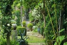 """The garden to be / A wise man once called gardening """"The slow play"""". It takes patience to create a beautifull garden and the enchantment lies in the everchanging-ness of this labour of love"""