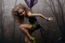 Fabulous Fey / Pixies, fairies, fey and elven maidens - Four variations in size and power of the enchanting beings who are so elusive and yet  from time to time seem to meander into our world and minds...