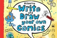 Write and Draw Your Own Comics / Write and Draw Your Own Comics An awesome activity book for budding comic artists to imagine and draw their own comic strips, with illustrations from comic artists from The Beano, The Phoenix and more!   #comics #illustration #children #books #write #draw #DIYComics #creative #literacy #reading #drawing #writing #doodling #cartoon #Usborne