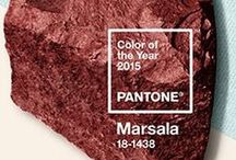 Marsala 2015 color of the Year / inspiration and all things in the color Marsala