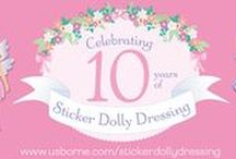 Sticker Dolly Dressing / It's Sticker Dollies' 10th birthday! Launched in 2006, there are now over 30 Sticker Dolly Dressing books.  We've also introduced Little Sticker Dolly Dressing for younger children, the fabulous Sticker Dolly Dressing Fashion Designer with stickers and transfers to design your own outfits, and Historical Sticker Dolly Dressing celebrating the golden eras of fashion.