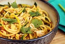 Low Fat Recipes - Zoodles instead of Noodles