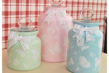 Decoupage and jars / by Mehtap Bostancı Binzet