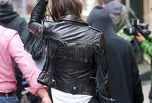 # Leather # / shorts + jacket
