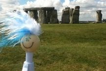 Nicky the Navigator / Nicky the Navigator is the summer mascot pen for the PDS community. In 2013 Nicky traveled the world and adventured here in the mid-Hudson valley. With a new blue rinse, Nicky 2014 is off on more adventures.