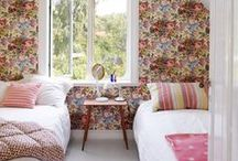 Bedrooms / Vintage wallpaper can turn a bedroom from a place for sleep to a place for dreams.