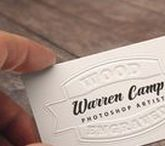 Cool Calling Cards / Warren's full-size custom business cards appear on his web page.