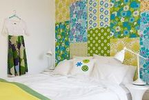 Patchwork Wallpaper Walls / Gotta love this design idea! Collage patchwork walls look great in any room.