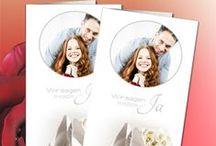 Einladungkarten mit eigenen Fotos / Das Highlight unseres Angebots ist: Mit unserer kostenlosen und absolut unverbindlichen Software können Sie Ihre Karten selber gestalten. Sie können einfach ihre eigenen Texte einfügen und anpassen - Stil, Farbe und Größe, eigene Bilder einfügen. http://www.hochzeit-extrablatt.de/einladungskarten-danksagungskarten-menuekarten.html