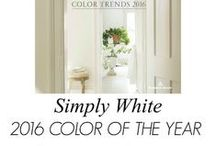 White Decor / White decor to go with your hardwood flooring and carpet.