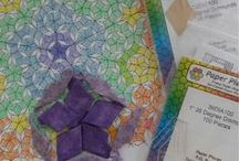 Penrose Tile Quilts / I love quilts pertaining to penrose tiling! All of these pins are inspiring me along my path to actually create a penrose tile quilt.