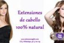 Extensiones de cabello Virgen / Extensiones de cabello 100% virgen y 100% humano. Cada cabello tiene su cutícula intacta, por esto es muy suave, sedoso y brillante.... Te hará ver espectacular!