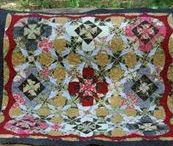 Winding Ways Quilts / I love the visual effects of circles created by winding ways and kaleidoscope blocks.  Add in careful color placement, and the options with these styles of quilts are striking and diverse!