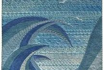 Ocean quilts / I grew up near the Gulf Coast, and have always loved reminders of the ocean.  These quilts inspire me to design a serene ocean quilt of my own.