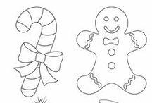 Jouluvärityskuvia ja sabluunoita