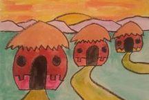 Afrikkalaisia majoja (huts)