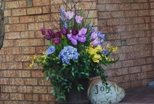 Spring Flowers and Potted Planters!   / Welcome to Spring. ! Encourage it this year especially. !