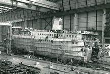 Bouw ms Friesland II (1988) / Ms Friesland II werd in 1988 in opdracht van Rederij Doeksen gebouwd bij Van der Giessen - de Noord in Krimpen a/d IJssel. Ze maakte haar eerste dienstreis op de lijn Terschelling-Harlingen op 30 juni 1989.
