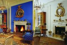 Before and After / Comparing historical and present images of a historic house, room, or art/architectural detail.