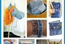 ## riciclABBIGLIAMENTO  ## / Come riusare guanti,calzini,magliette,sciarpe,nastri e altro.......