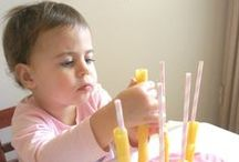 Learning to Use My Hands (Fine Motor) / Pinching things, picking small toys up and learning how to string beads or use a crayon takes practice for a baby and these ideas are both fun and helpful.