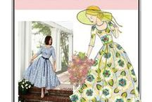 Sew Chic Pattern Southern Belle #LN8503 : Womens Sewing Patterns / Love the Southern Belle Dress? On this board we have collected everything on the web into one place to help you plan, sew, and wear this dress by Sew Chic Patterns